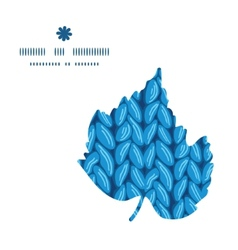 Knit sewater fabric horizontal texture leaf vector