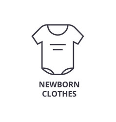newborn clothes line icon outline sign linear vector image