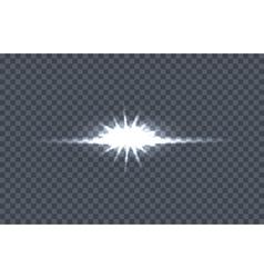 White Glowing Light Burst vector image vector image