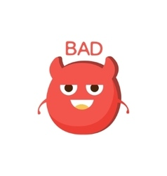 Bad Red Devil Word And Corresponding vector image