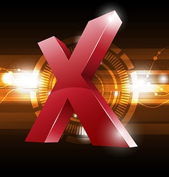 cross symbol with technology background vector image vector image