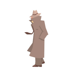 disguised detective character in grey coat vector image