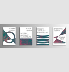 a set of modern abstract covers vector image
