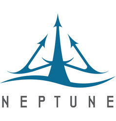 abstract icon neptune trident vector image