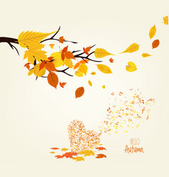 An autumn leaves design and musical is my soul vector