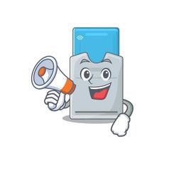 An icon key card having a megaphone vector