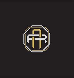 Ar initial letter overlapping interlock logo vector