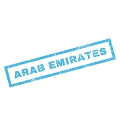 Arab Emirates Rubber Stamp vector
