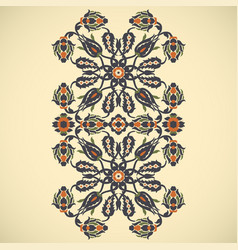 Arabesque vintage border elegant floral vector