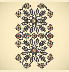 Arabesque vintage border elegant floral vector