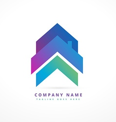 arrow house business logo design vector image