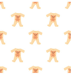 Baby rompers pattern seamless vector