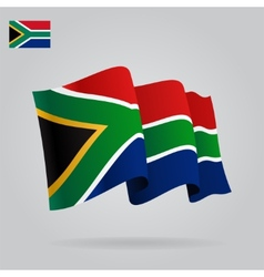Background with waving South Africa Flag vector image