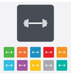 Barbell sign icon Muscle lifting symbol vector