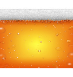 Beer fest background and realistic bubbles vector