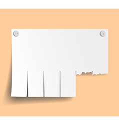 Blank ads on wall vector