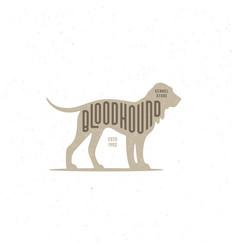 bloodhound logo vector image