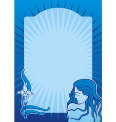 blue spa girl vertical vector image