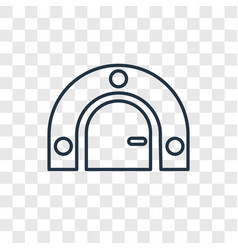 Bunker concept linear icon isolated on vector
