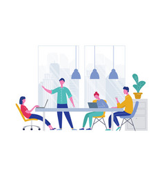 Business meeting teamwork concept businessman vector