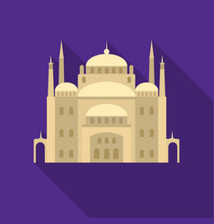 Cairo citadel icon in flat style isolated on white vector
