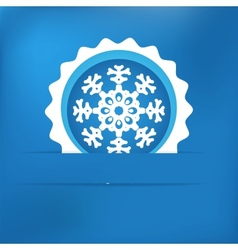 Christmas snowflake applique EPS8 vector image