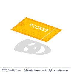 cinema entry ticket icon isolated on white vector image