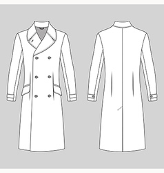 Coat outlined template vector