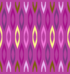 Colorful tribal ikat seamless pattern vector