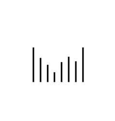 column chart icon vector image