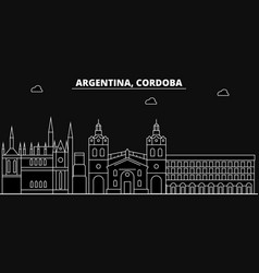 Cordoba silhouette skyline argentina - cordoba vector