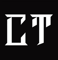 Ct logo monogram with slice shape design template vector