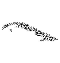 cuba map composition of soccer balls vector image
