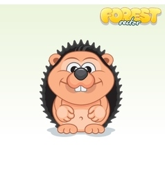 Cute Cartoon Small Hedgehog Funny Animal vector image