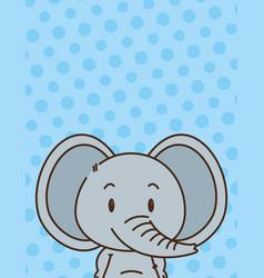 cute little elephant character vector image