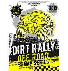 Dirt rally poster vector