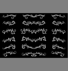 dividers white filigree floral decorations on vector image