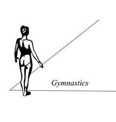 floor gymnast vector image