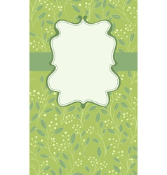 floral green card vector image