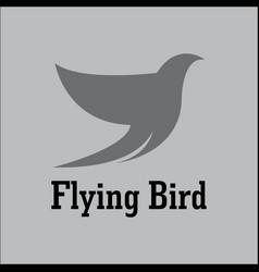 flying bird beauty logo vector image
