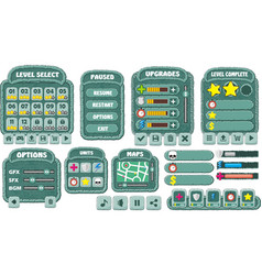 game gui 7 vector image
