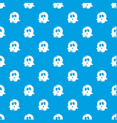 ghost pattern seamless blue vector image