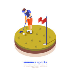 Golf isometric composition vector