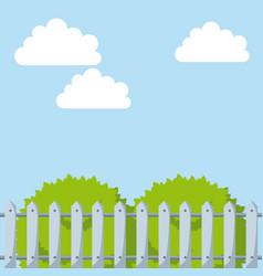 Green bushes icon vector