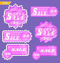 Holiday sale promotional discounts closeouts vector
