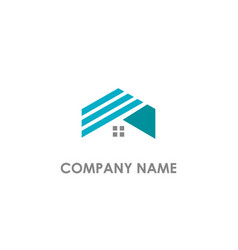 home realty business logo vector image