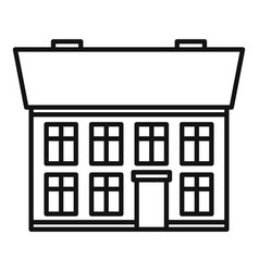 House cottage icon outline style vector