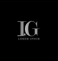 i g kg letter logo template graphic design vector image