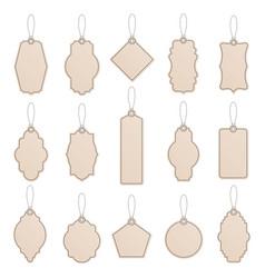 label template vintage paper tag labels craft vector image