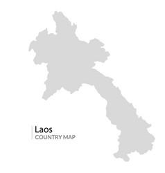 laos map country laos near vietnam lao vector image